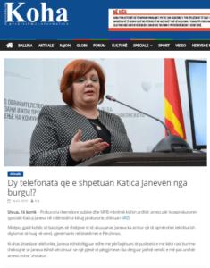 Foto screenshot nga lajmi që recensohet